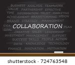 collaboration word on chalk... | Shutterstock .eps vector #724763548
