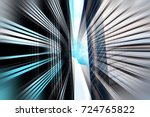 abstract motion blur effect on... | Shutterstock . vector #724765822