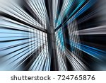abstract motion blur effect on... | Shutterstock . vector #724765876