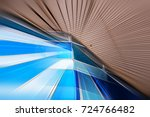 abstract motion blur effect on... | Shutterstock . vector #724766482
