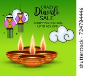 vector illustration of a sale... | Shutterstock .eps vector #724784446