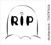 cute doodle halloween... | Shutterstock .eps vector #724797616