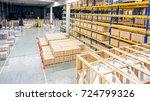 interior of warehouse | Shutterstock . vector #724799326