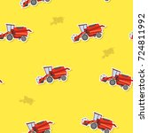 seamless pattern with farm... | Shutterstock .eps vector #724811992