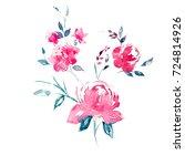 watercolor flower illustration | Shutterstock . vector #724814926