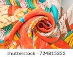 silk scarf | Shutterstock . vector #724815322