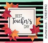 happy teacher's day   unique... | Shutterstock .eps vector #724819942