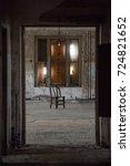 ellis island abandoned... | Shutterstock . vector #724821652