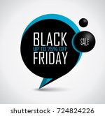 black friday discount price tag ... | Shutterstock .eps vector #724824226