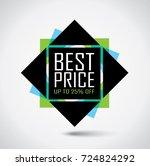best price rectangular banner... | Shutterstock .eps vector #724824292