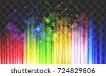 gleam lights in rainbow colors... | Shutterstock .eps vector #724829806