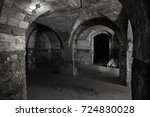 an old abandoned tunnel in an... | Shutterstock . vector #724830028