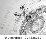 vector abstract technology... | Shutterstock .eps vector #724836382