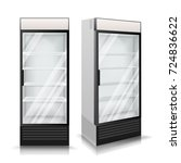 3d realistic refrigerator... | Shutterstock .eps vector #724836622