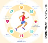 the running man with sport and... | Shutterstock .eps vector #724847848