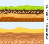 illustration of cross section... | Shutterstock .eps vector #724852756