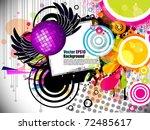 music theme star background... | Shutterstock .eps vector #72485617