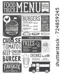 food truck menu for street... | Shutterstock .eps vector #724859245
