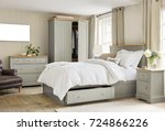 modern master bedroom interior | Shutterstock . vector #724866226