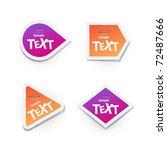 vector sticker for text | Shutterstock .eps vector #72487666