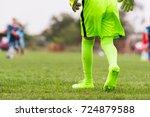 kids soccer football   little... | Shutterstock . vector #724879588