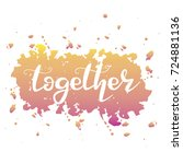 letters  together  logotype... | Shutterstock .eps vector #724881136