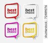 eps10  realistic design elements | Shutterstock .eps vector #72489076