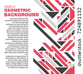 abstract a geometric template... | Shutterstock .eps vector #724891132