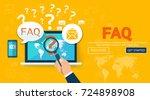 faq website banner. vector... | Shutterstock .eps vector #724898908