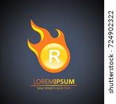 fireball letter r logo | Shutterstock .eps vector #724902322