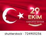 republic day of turkey national ... | Shutterstock .eps vector #724905256