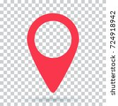 pin map navigation localization ... | Shutterstock . vector #724918942