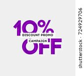 10  off sale offer special... | Shutterstock .eps vector #724929706