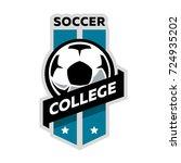 soccer college logo | Shutterstock .eps vector #724935202