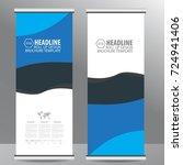roll up business brochure flyer ... | Shutterstock .eps vector #724941406