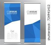 roll up business brochure flyer ... | Shutterstock .eps vector #724941412