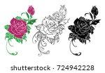 flower rose. design element....   Shutterstock .eps vector #724942228
