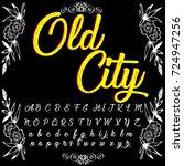 vector set of handwritten abc... | Shutterstock .eps vector #724947256