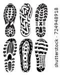 footprint sport shoes big...   Shutterstock .eps vector #724948918