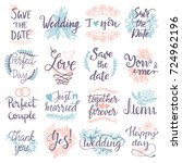 hand drawn typography save the... | Shutterstock .eps vector #724962196