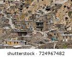 kandovan  manmade cliff... | Shutterstock . vector #724967482