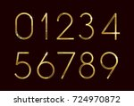 golden fashion font numbers | Shutterstock .eps vector #724970872
