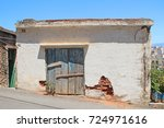 Ancient Stone Barn With An Old...
