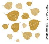leave pattern  sacred fig ... | Shutterstock .eps vector #724972252