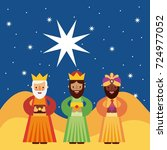 the three kings of orient | Shutterstock .eps vector #724977052