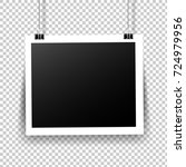photo frame with tape in... | Shutterstock . vector #724979956