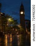 Small photo of Prince Albert memorial clock tower at night. Belfast, Northern Ireland. May 2017