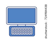 computer keyboard device modern ... | Shutterstock .eps vector #724984438