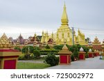 view of pha that luang temple... | Shutterstock . vector #725002972