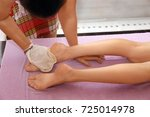 slim woman having massage in... | Shutterstock . vector #725014978